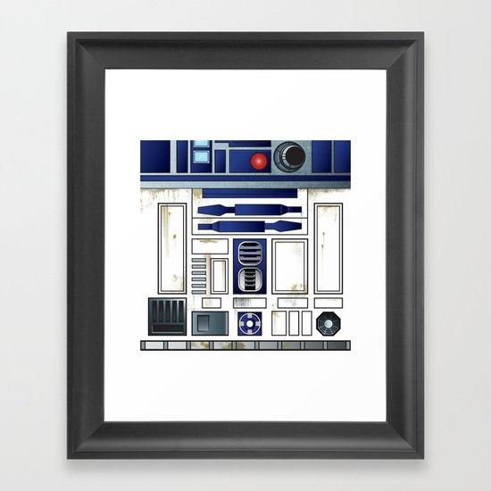 Plucky Droid Framed Art Print