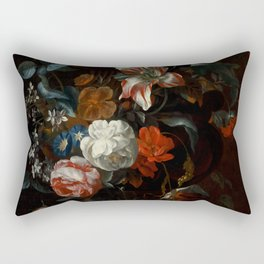 "Philip van Kouwenbergh ""Flowers in a Vase"" Rectangular Pillow"