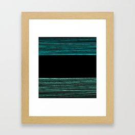 Thread , black and green Framed Art Print