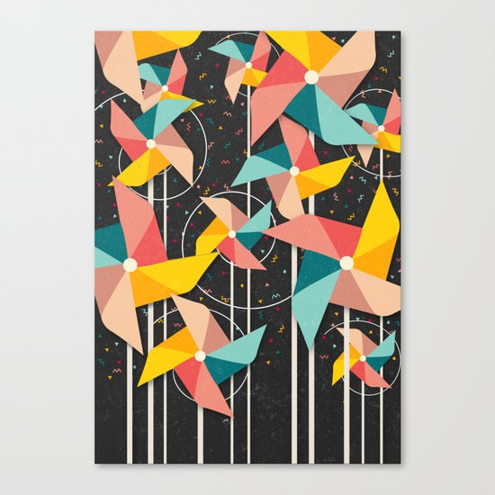 Colourful Pinwheels Canvas Print