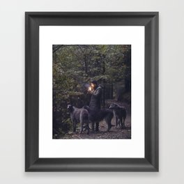 The Scottish Wolfhound Framed Art Print
