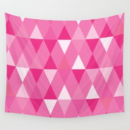 Harlequin Print Pinks Wall Tapestry