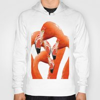 flamingos Hoodies featuring Flamingos by Regan's World