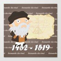 da vinci Canvas Prints featuring Leonardo da Vinci by Alapapaju