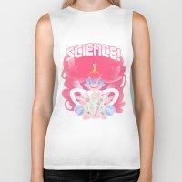princess bubblegum Biker Tanks featuring Princess Bubblegum: SCIENCE! by MortinfamiART