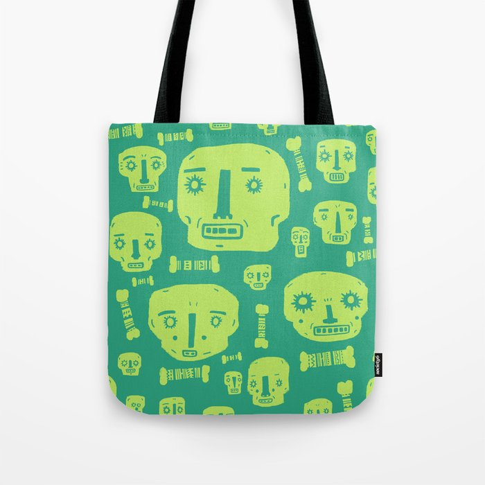 Skulls & Bones I - Green Tote Bag