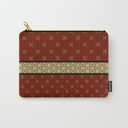 Gold Red X ribbon Pattern Design Carry-All Pouch