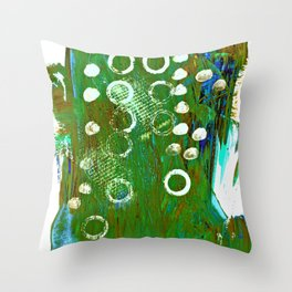 Abstract green background Throw Pillow