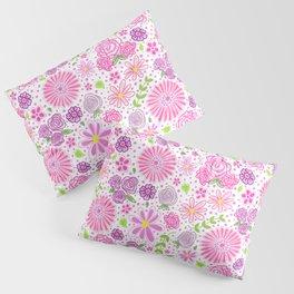 Happy Spring Flowers Pillow Sham