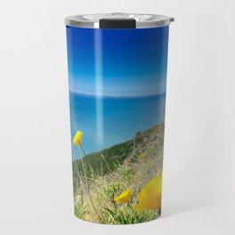 Poppies at Big Sur Travel Mug