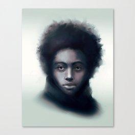 Black man with scarf - digital portrait Canvas Print