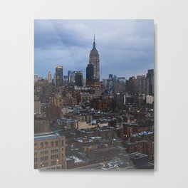 Empire State Building and the Manhattan skyline Metal Print