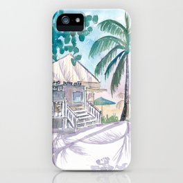 Key West Conch Dream House - Cayo Hueso Beach Cafe iPhone Case