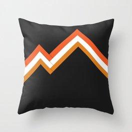 Athletic Retro Orange #kirovair #home #decor #retro #orange #gymwear #athletic #design Throw Pillow