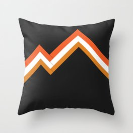 Athletic Retro Orange #kirovair #home #decor #retro #orange #gymwear #athletic #design Throw Pillow