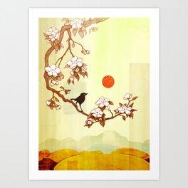 Cherry Branch Art Print
