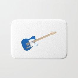 Blue Electric Guitar Bath Mat