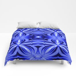 Electric Blue Pattern Comforters
