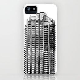 Barbican - Brutalist building illustration iPhone Case