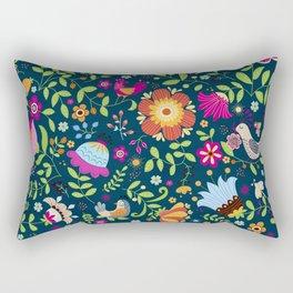 FLOWERS AND BIRDS Rectangular Pillow
