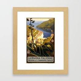 La Riviera italienne, Portofino près de S.Margherita et Rapallo Framed Art Print