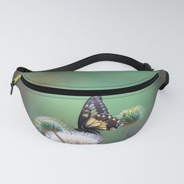 Butterfly Thistle Fanny Pack