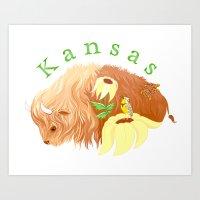 kansas Art Prints featuring Kansas by Fawn