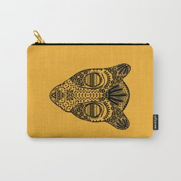 Black and Gold Jaguars Head Carry-All Pouch
