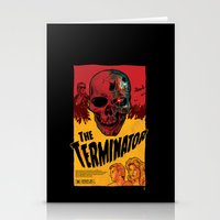 terminator Stationery Cards featuring The Terminator by Vaughany