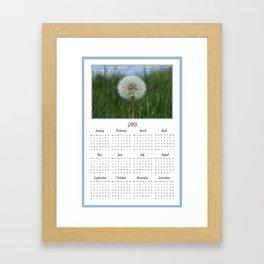 Dandelion 2013 Calendar Framed Art Print