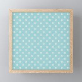 Powder Blue Polka Dots Framed Mini Art Print