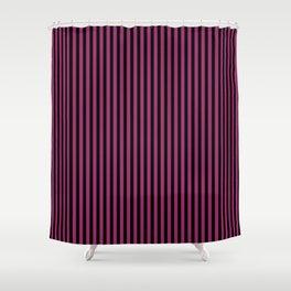 Festival Fuchsia and Black Stripes Shower Curtain