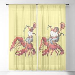 Craw Daddy  Sheer Curtain
