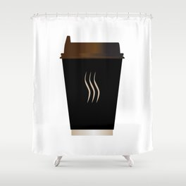 Paper Coffee Cup Shower Curtain