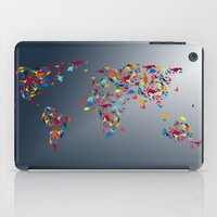 map of the world iPad Cases featuring WORLD MAP  by mark ashkenazi