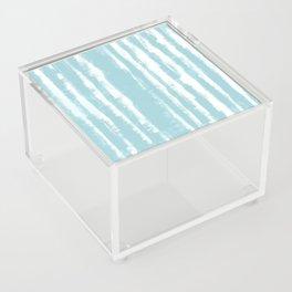 Shibori Stripe Seafoam Acrylic Box