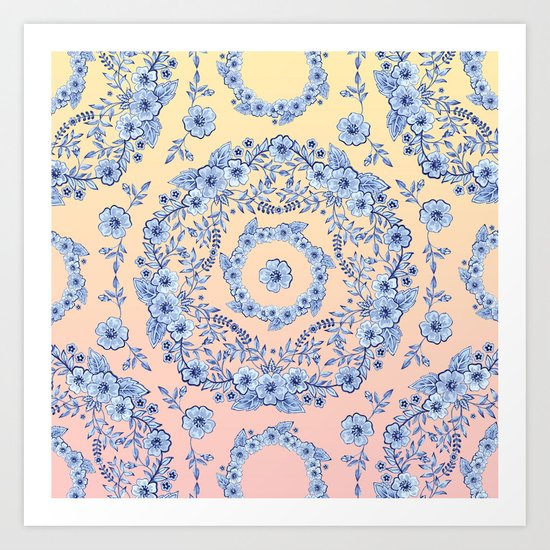 Blue Rhapsody Art Print