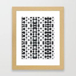 Shibori Ikat Habotoi BW Framed Art Print