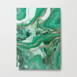 Liquid Marble Agate Glitter Glam #1 (Faux Glitter) #decor #art #society6 Metal Print