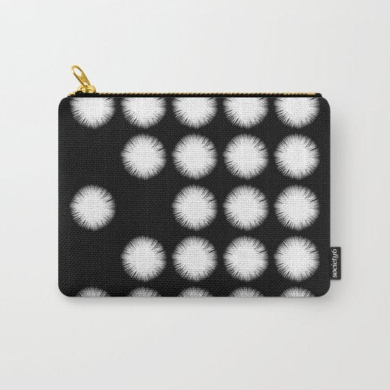 White Fuzz (Abstract, black and white minimalism) Carry-All Pouch