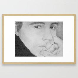 James Franco Portrait Hand Drawn Framed Art Print