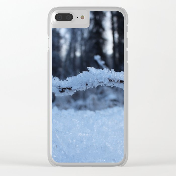 Frosty Branch Clear iPhone Case