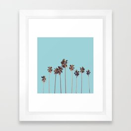 palm trees turquoise Framed Art Print