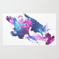 fight Area & Throw Rugs featuring Bloody Fight by Robert Farkas
