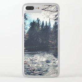forest by the river Clear iPhone Case