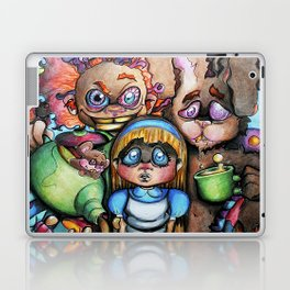 """""""We're All Mad Here"""" Poster Laptop & iPad Skin"""