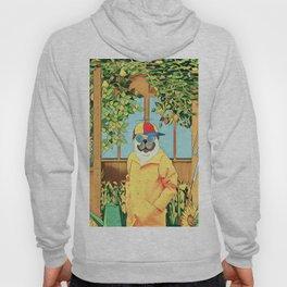 Pug in the garden Hoody
