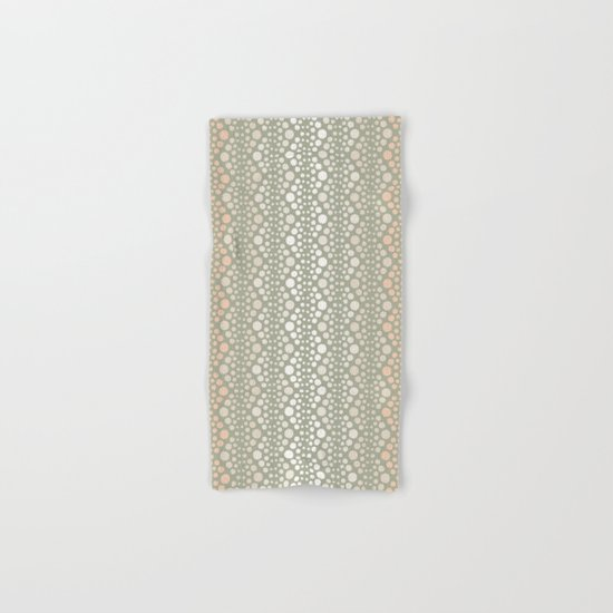 Retro Dotted Pattern 06 Hand & Bath Towel