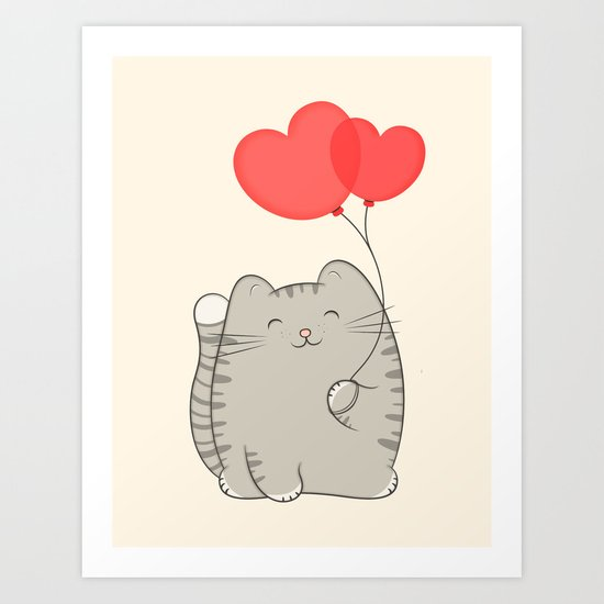 eli, the love cat Art Print