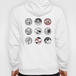 blurry icons Hoody